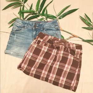 Girls Size 10 Summer Bundle Skirt Shorts